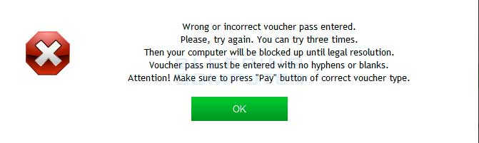 Failed passcode attempt