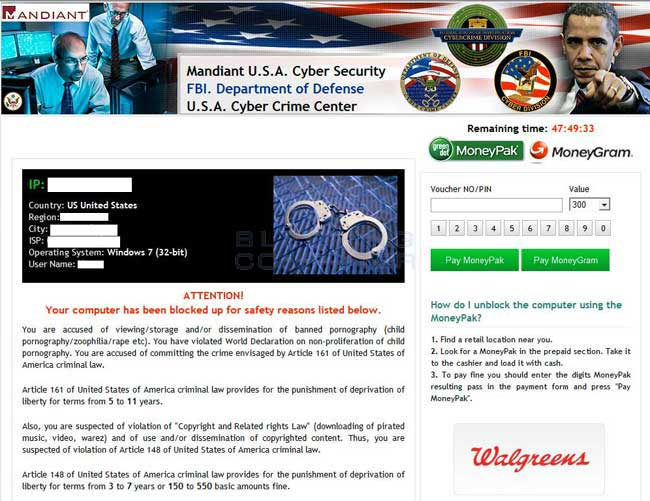 Mandiant U.S.A Cyber Security Ransomware screen shot
