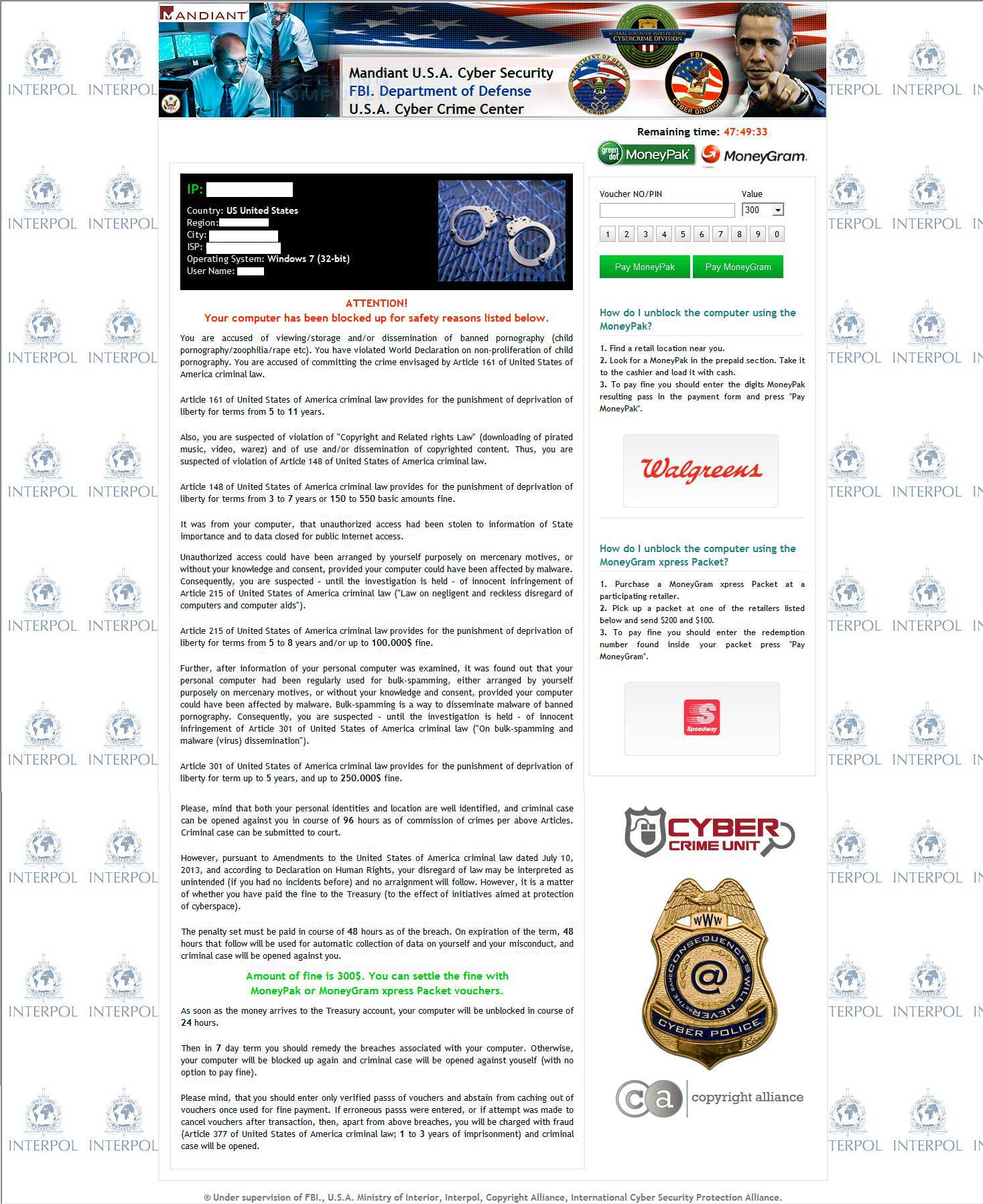 Mandiant U.S.A Cyber Security Ransomware screen shot