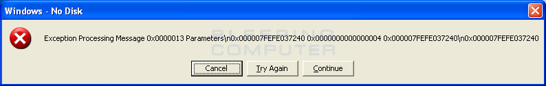 No disk alert