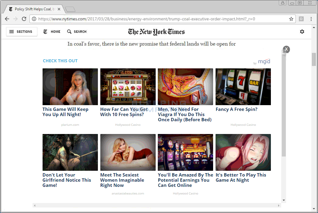MGID Native Ads on NYTimes.com