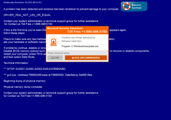 Fake Microsoft Security Essentials Tech Support Scam Screenshot