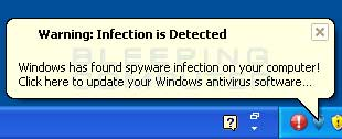 Fake infection detected alert