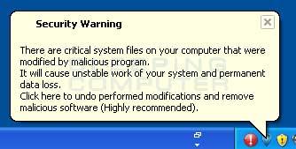 Fake Security Warning 2