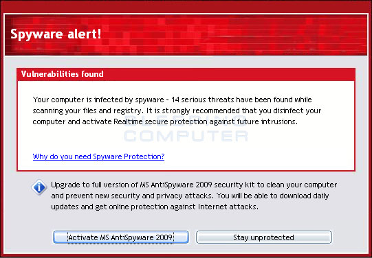 MS AntiSpyware Alert
