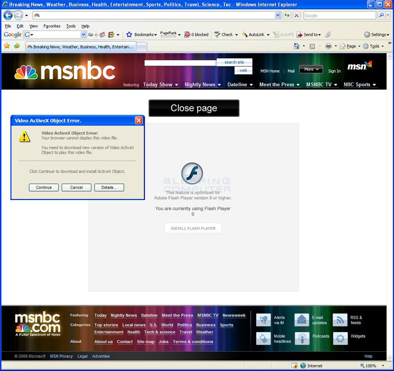 Msnbc Breaking News: MSNBC Breaking News Removal Guide (Uninstall Instructions