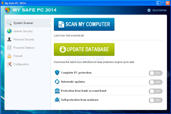 My Safe PC 2014 screen shot
