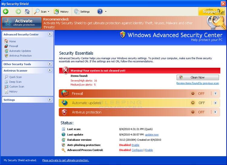 Remove security shield