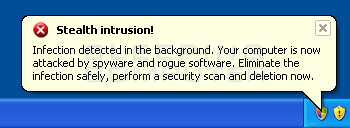 Fake stealth intrusion alert