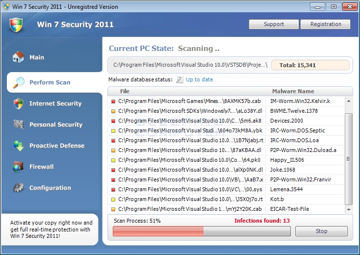 Win 7 Security 2011 screen shot