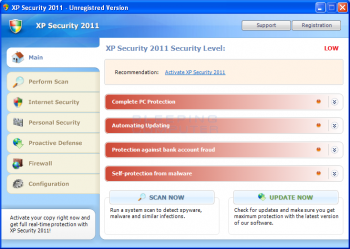 XP Internet Security & Win 7 Antispyware 2011 Image