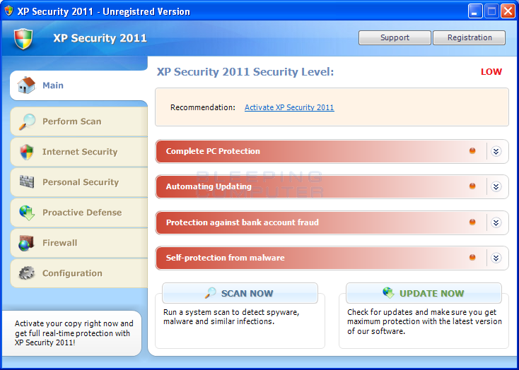 XP Security 2011 screen shot