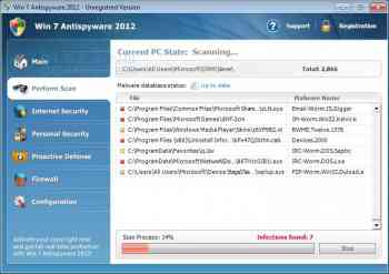 Win 7 Antispyware 2012 & Vista Antivirus 2012 Image