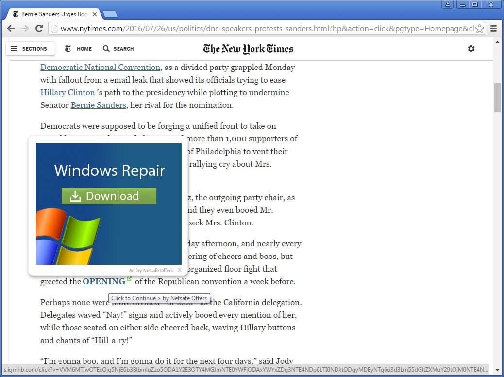 Netsafe Offers on the New York Times web site