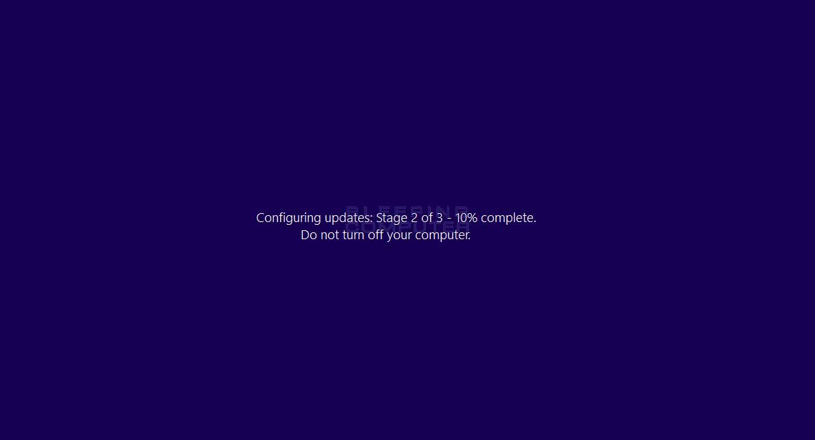 Fake Windows Update Screen