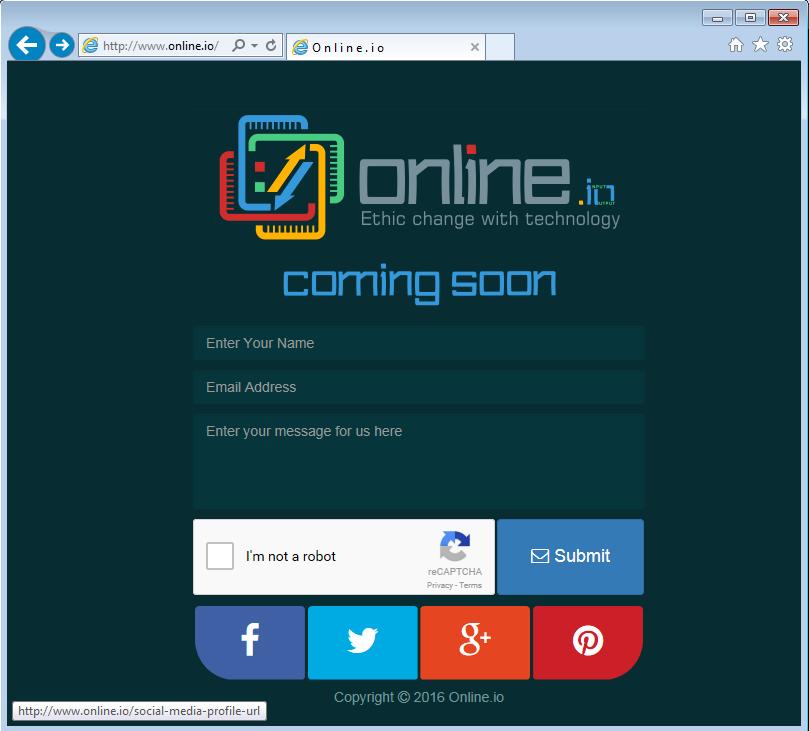 Online.io Web Site