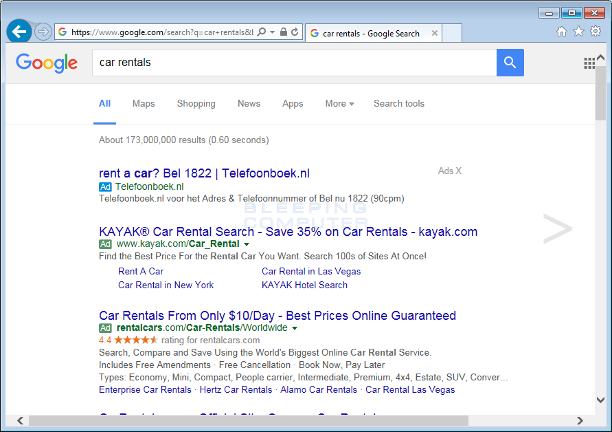 OtherSearch ads in Google