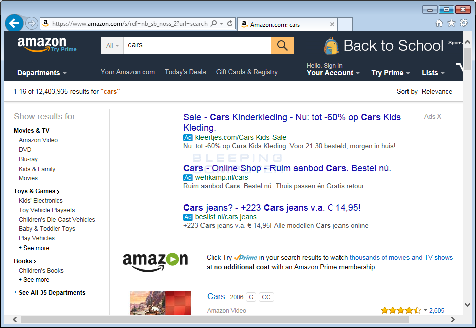 OtherSearch ads in Amazon