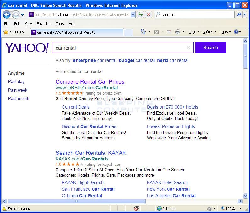 Hijacked Home Page