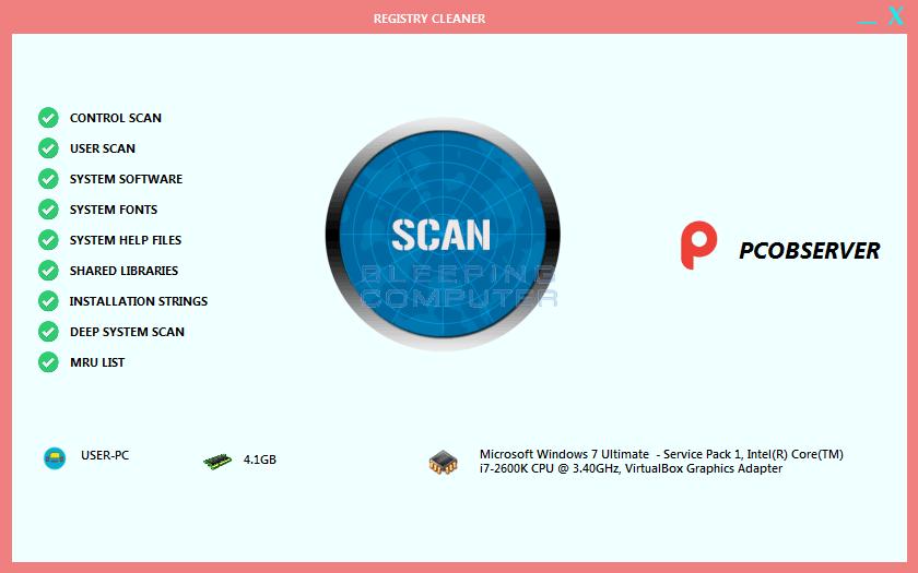 Fake Pcobserver Registry Cleaner