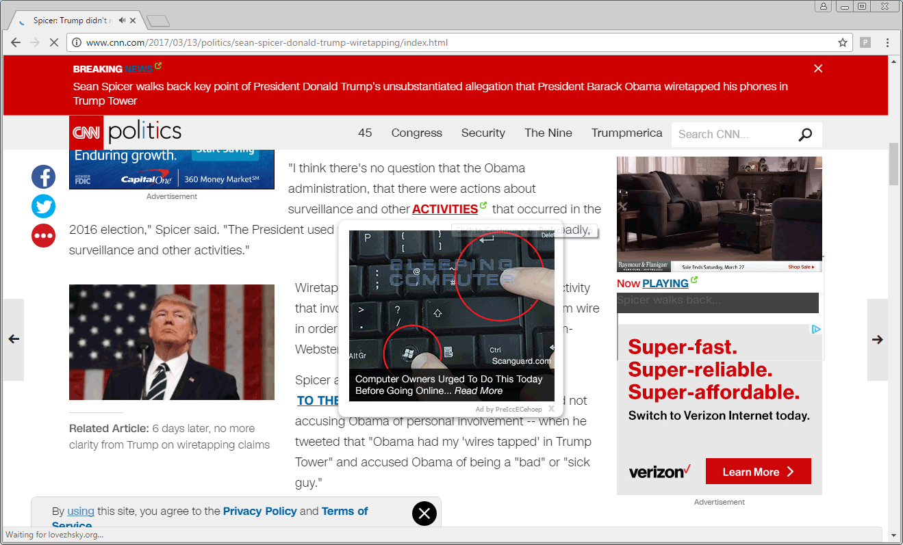 PreIccECehoep Ads on CNN