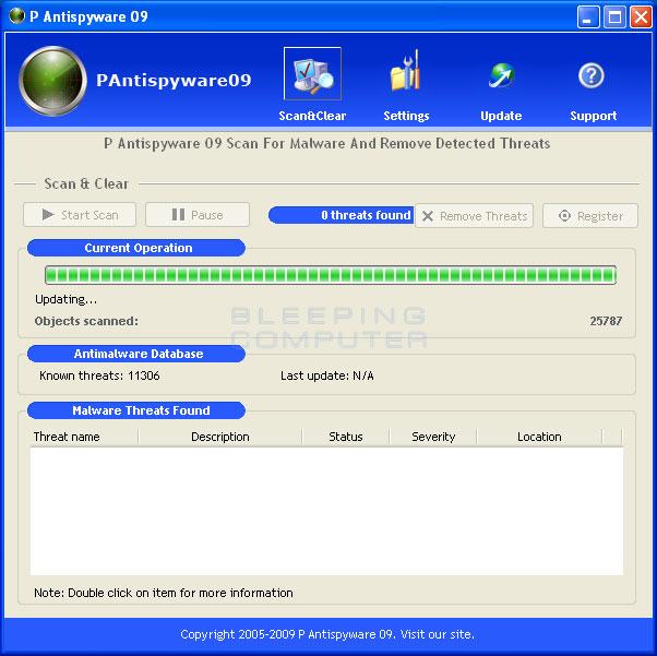 P Antispyware 09 screen shot
