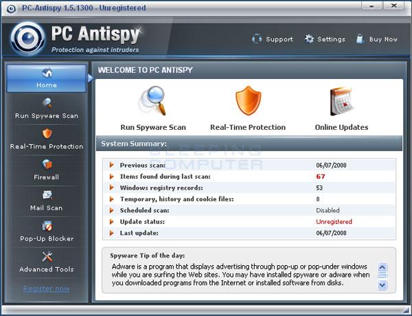 PC Antispy screen shot