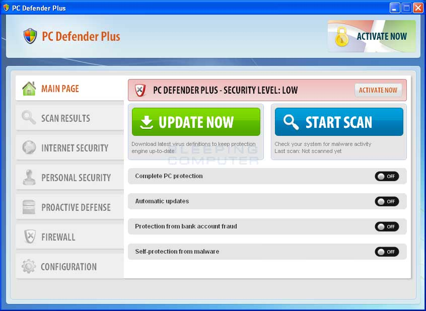 PC Defender Plus screenshot