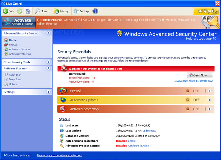 PC Live Guard screen shot