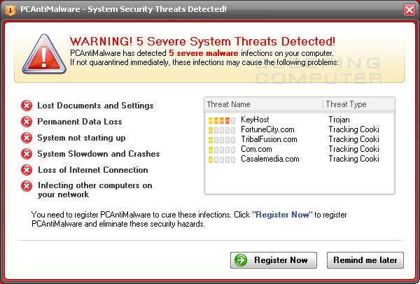 Remove PCAntiMalware (Removal Guide)