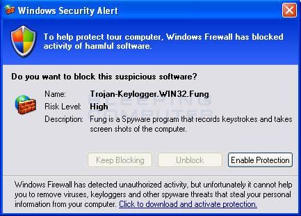 Fake Windows Security Center Alert