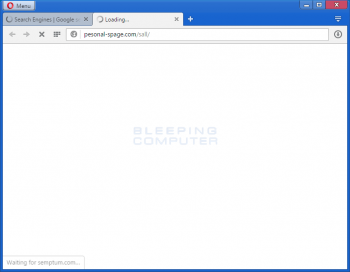 Pesonal-spage.com Browser Hijacker Screenshot