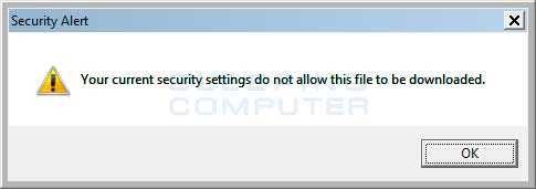 No downloads in Internet Explorer
