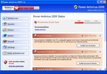 Power Antivirus 2009 Image