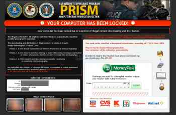 PRISM and NSA Internet Surveillance Program Ransomware Screenshot