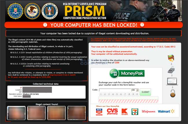 Prism Ransomware screen shot