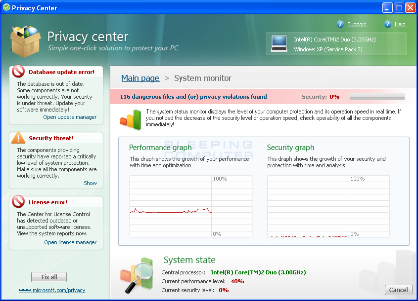 System Monitor utility