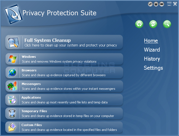 Privacy Protection Suite screen shot