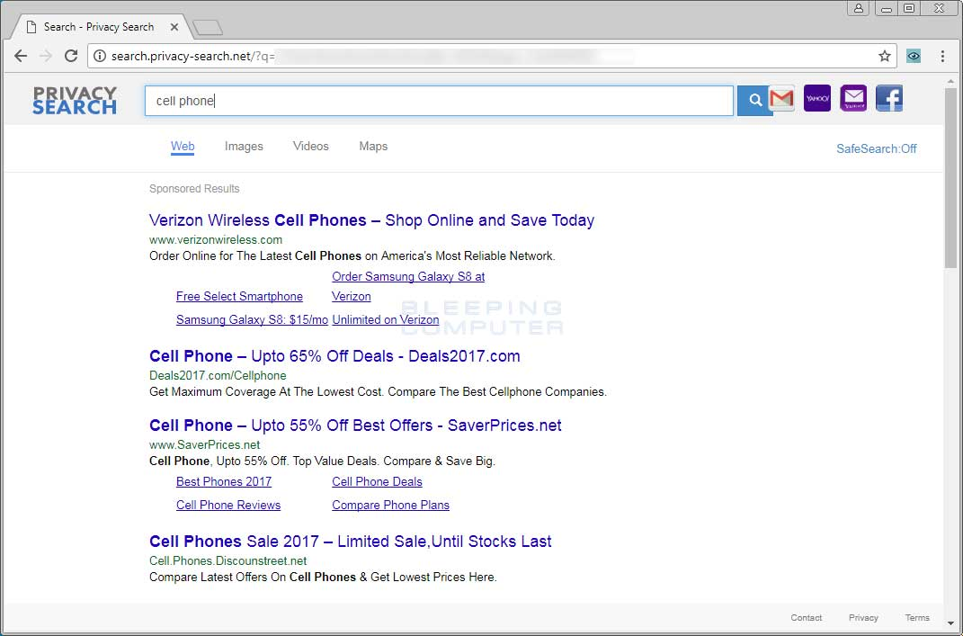 Search.privacy-search.net search page