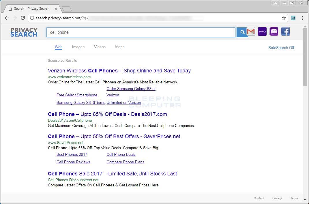 Search.privacy-search.net search page