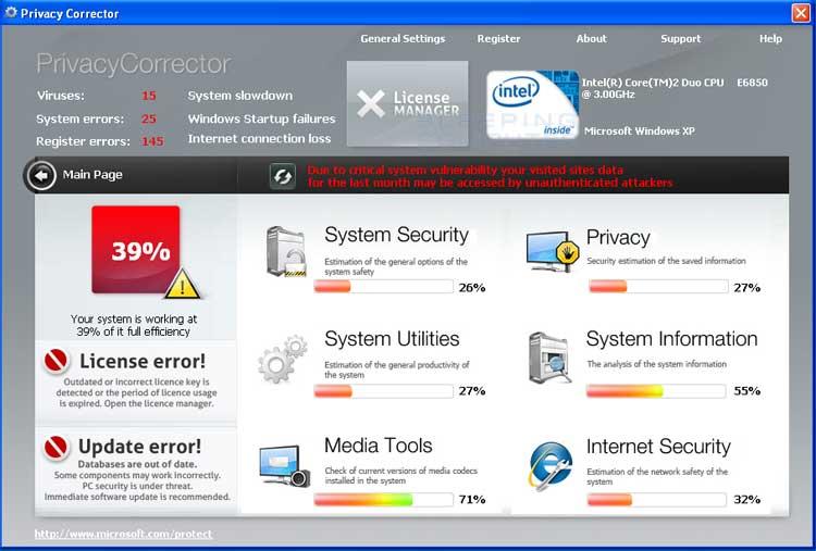 PrivacyCorrect screen shot