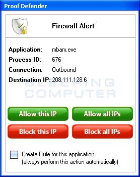 Firewall Alert