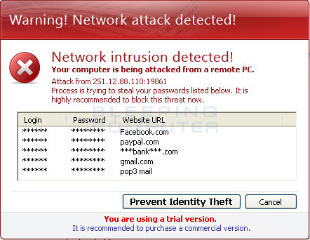 Network Intrusion Detected Alert