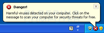 Viruses Warning alert