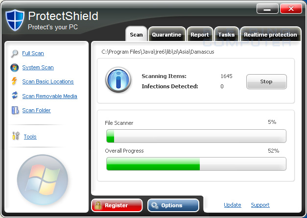 ProtectShield screen shot
