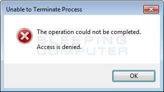 Blocked Program Error
