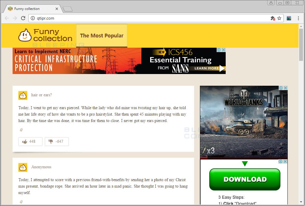 Qtipr.com Browser Hijacker