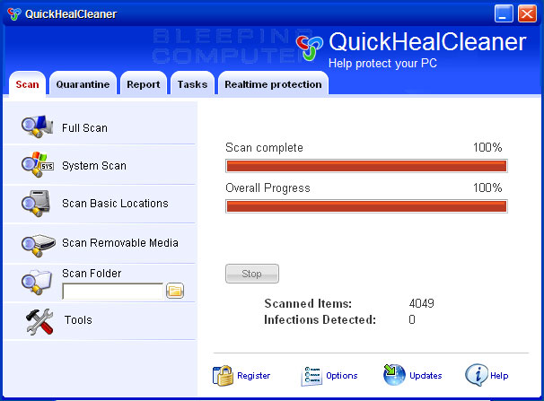 QuickHealCleaner screen shot