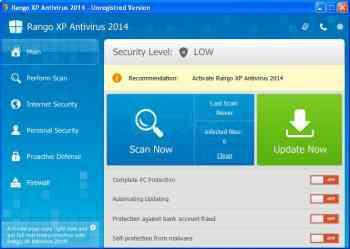 Rango XP Antivirus 2014 Image