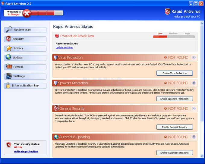 RapidAntivirus screen shot